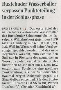 Hamburger Abendblatt vom 13.01.2014