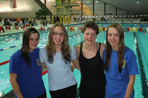 Bei den Landesmeisterschaften gingen für den Buxtehuder SC Charlotta Radtke, Chantal Kasch, Josephine Noack und Lina Hartwig (v.li.) an den Start.