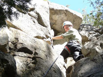Top rope climbing in Ontario