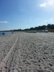 Die ersten Strandkörbe werden schon eingemottet