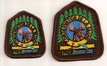 1983, cap and chest patches