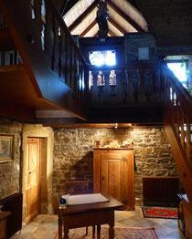 Treppenaufgang im Landhaus