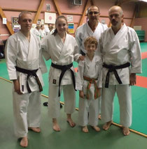 Cyril, Chloé,Kilian, Philippe et Patrick