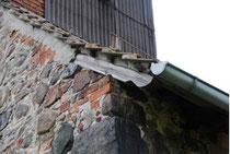 Schäden am Westgiebel