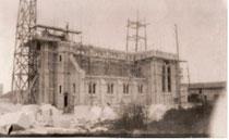 La construction de la nouvelle église