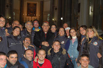 Il Cardinale con il grupo