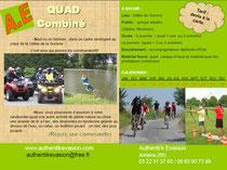 quad, vélo, vtt, tyrolienne géante, arc