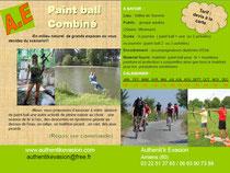 Paint ball en milieu naturel, tyrolienne géante, randonnée vtt, tr à l'arc