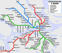 T-Bana (U-Bahn) Stockholm