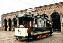 Elektrischer Triebwagen der Großen Berliner Straßenbahn, Bj. 1901 (Bild Wikipedia)