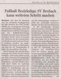 Saarbrücker Zeitung vom 5. März 2011