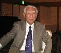 修猷館ヨット部創部70周年記念式典で野田玲二郎君(2011年10月1日、福岡サンパレスで)