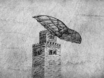Zeichnung von Abbas Ibn Firnas