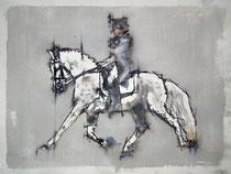 Caballo. Acuarela sobre papel Arches de 300 gm. 61x46 cm. Fernando Aguayo.