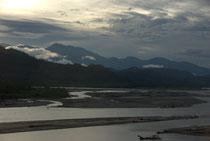 Coucher de soleil sur le Rio Ene