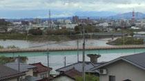 4日am8:30頃の阿武隈川 水位4.72m