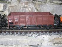 Brauner Güterwagen
