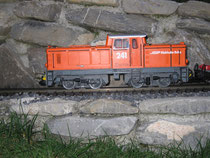 Orange Rangierlokomotive