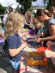 Klassenstandbetreuung beim Sommerfest