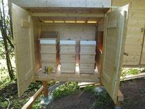 Die Honigräume sind drauf