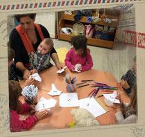 Atelier d'origami avec enfants