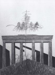 Quadriga zügellos, Zeichnung, 1995