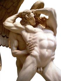 OmoGirando il Museo Hendrik Christian Andersen. Giacobbe e l'angelo
