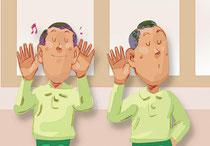 片耳と両耳との比較