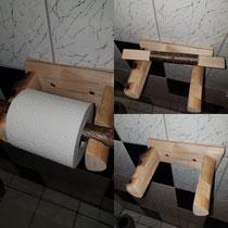 Simpler Klorollenhalter aus Holz