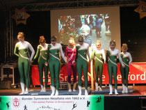 Bockvorführung auf dem Weihnachtsmarkt in Bünde