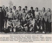 Meistermannschaft 1971/72