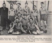 Meistermannschaft 1937/38