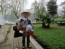 ベトナム お土産売りの女性で