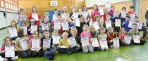 Low-T-Ball-Tennis begeistert die gesamte Grundschule Liebenau