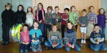 Geschafft – die Finalisten der Grundschule Kehlen haben sich für das Finalturnier des Meckenbeurer GenoBank-Grundschulen-Cup 2012 qualifiziert