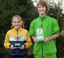 Pokale abgeräumt: Samia Nanz und Felix Dunger