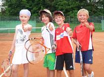 Der Tennisnachwuchs aus Meckenbeuren möchte bei der Preisvergabe ein Wörtchen mitreden