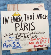 In einem Taxi nach Paris
