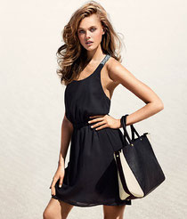 H&M Black and white tote handbag