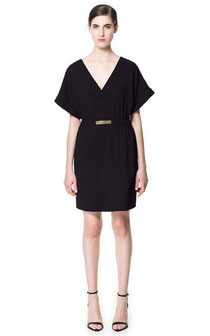 Zara Black Kimono Sleeve dress