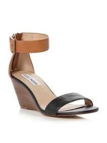 Ankle strap wedge shoes