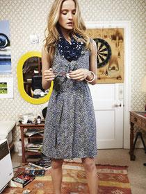 Drapey belted subtle print dress