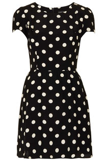 Black and white spotty dress