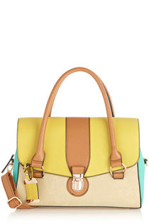 Oasis Multi coloured barrel lock bag