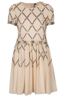 Topshop embellished skater dress