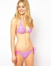 Ted Baker pink stripe bikini
