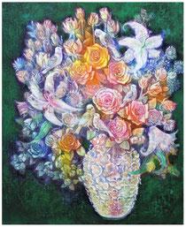 愛の花瓶と小鳥