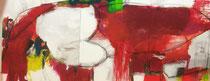 100 x 240 cm Kraft der Emotionen Acryl Mischtechnik