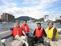 四国 徳島にて… 2012.8         左より雅英・禎宏・富永啓司・繁子