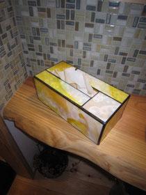 ステンドグラス・ティッシュボックス・汚れない・水に強い
